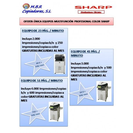 OFERTA ÚNICA SHARP HASTA FINAL DE AÑO